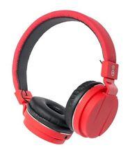 Écouteurs rouge avec microphone