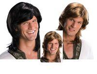 Adult 70s Guy Hippie Groovy Disco Costume Wig