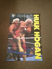 Vintage WWF 2 Sided Hulk Hogan - Natural Disasters Poster