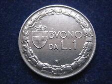 "MDS ITALIEN 1 LIRA BUONO 1922 R ""VITT. EMANUELE III."""