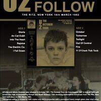 U2 - The October Tour The Ritz New York 18th March 1982 LTd Gold Vinyl lp