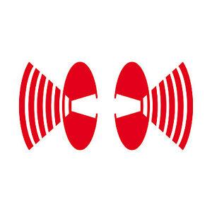 2 Aufkleber Lautsprecher 8cm Auto Fenster Tattoo Deko Folie Speaker Depeche Mode