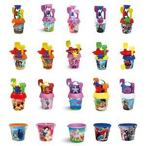 Kids Disney Plastic Beach Bucket And Spade Play Toy Set Sandbox Summer Outdoor