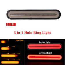 Halo Neon 100 LED Tail Light Stop Flowing Turn Signal Brake Rear Trailer Truck