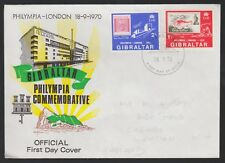 Gibraltar 1970 FDC Philympia Stamp Exhibition, London