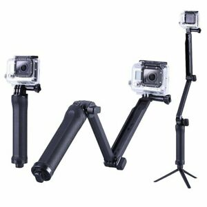 3 Way Selfie Grip Monopod Extension Arm Tripod for GoPro 9 8 7 6 5 4 3+ 3 2 1