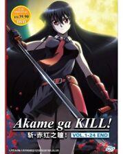 Akame Ga Kill DVD (Vol. 1-24 end) with English Audio