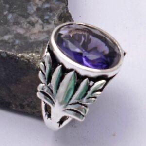 Amethyst Ethnic Handmade Ring Jewelry US Size-7.5 AR 39573