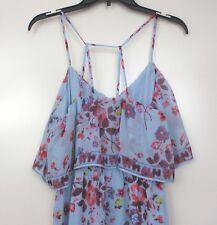 NWT Womens Princess Vera Wang Strappy Lampshade Dress XL Blue Floral Full Length