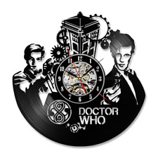 Doctor Who Wall Clock Retro Vinyl Record Clocks Hanging Wall Watch Home Decor
