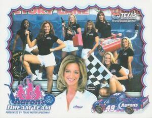 2003 Shawna Robinson Aaron's Dream Team Chevy Silverado Texas NASCAR postcard