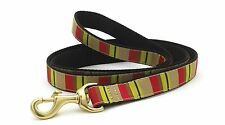 "Dog Puppy Up Country Design Adirondack Stripe Leash 6' L x 1 W"" Made in the USA"