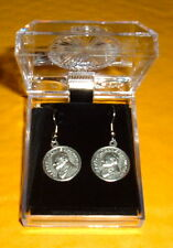 ST SAINT Pope JOHN PAUL ll Earrings RARE HTF New 3/4 inch Medallion Catholic