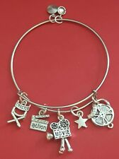 """Silver  """"Actress"""" Themed Charm Bracelet ( Movie Lover, Actor)"""
