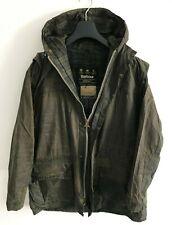Mens Barbour Durham Hooded wax jacket Blue coat Medium / Large M/L Lightweight 2