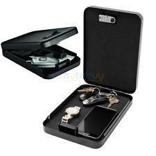 "9"" Portable Home Security Box Combination Lock Cash Wallet Jewelry Gun Mini Safe"