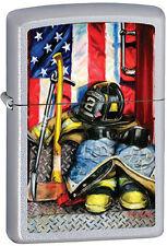 Américain Héroïsme Firemen's Outils Par Paul Walsh Pompier Chrome Briquet Zippo