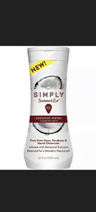Summers Eve Simply Free and Gentle Cleansing Wash Coconut Water 12 fl oz Bottle