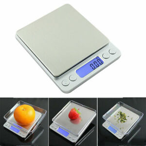0.01g-500g Electronic Pocket Digital LCD Weighing Scales Food Jewelry Kitchen