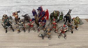 ELC Tower of Doom HUGE Bundle Figures Knights Dragon Horse Mythical Creatures