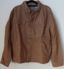 Levi's Men's Cotton Canvas Commuter Truckercolor worker brown size XL (K)