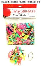 1 PACK MULTI RUBBER BANDS 100 GRAMS NEW