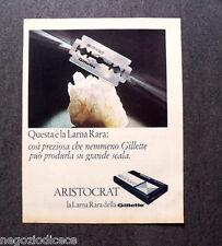 O278 - Advertising Pubblicità - 1967 - ARISTOCRAT GILLETTE , LAMA RARA