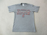 Detroit Red Wings Shirt Adult Small Gray Red NHL Hockey Stanley Cup Mens *