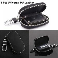 1 Pcs Black Universal Genuine Leather Fashion Car Smart Remote Key Case Fob Bag