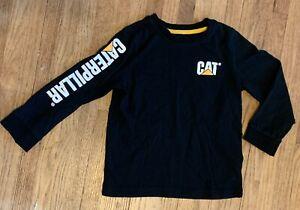 Caterpillar Tractor Bulldozer Child's Long Sleeve T Shirt 5/6 Black
