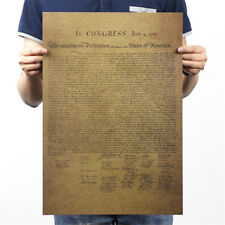 the united states declaration of independence retro poster wall sticker M&R