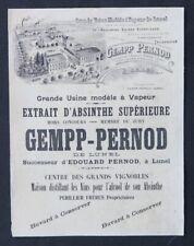Buvard ABSINTHE GEMMP PERNOD LUNEL Hérault Périllier 2