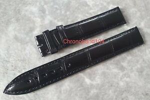 Genuine OEM Franck Muller 16mm Black Matte Alligator Leather Strap UNUSED