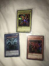 Yu-Gi-Oh Egyptian God Cards Winged Dragon Ra Obelisk Tormentor Slifer Sky Dragon