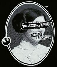 """Coitus Blasters"" Princess Leia Pistols Parody Men's Large Shirt Teevillain"