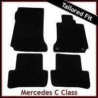 Mercedes C-Class W204 Manual 2007-2014 Tailored Fitted Carpet Car Mats BLACK