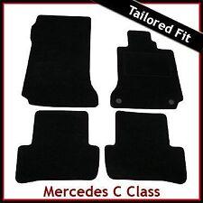 Mercedes C-Class W204 Manual 2007-2014 a Medida Alfombra Alfombrillas De Coche Negro Equipada