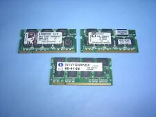 3 STICKS 1GB LAPTOP RAM DDR TOTAL 3GB VARIOUS MAKES