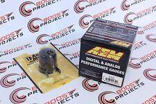"AEM 52mm Boost Digital Gauge -30-35psi & Autometer 2-1/16"" Black Gauge Cup"