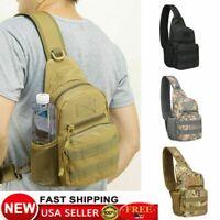 Mens Tactical Sling Bag Military Backpack Pack Small Shoulder Sling Molle Bag