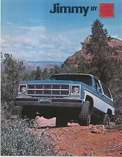 GMC Jimmy C-1500 K-1500 Hardtop & Soft Top 1979 Original USA Sales Brochure
