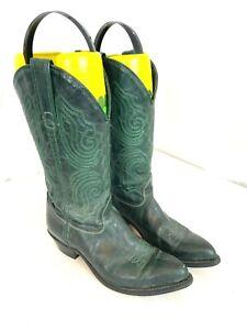 CAPEZIO Green Leather Women's Cowboy Boots