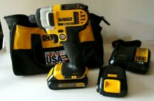 "DEWALT DCF885 1/4"" 20V CORDLESS IMPACT DRILL DRIVER KIT (BATTERY+CHARGER+BAG)"