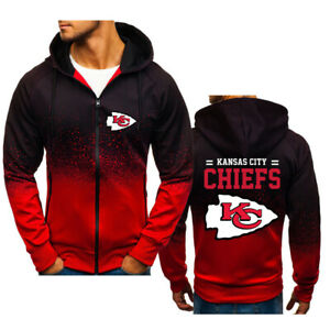 Kansas City Chiefs Gradient Hoodie Splash-Ink Sweatshirt Sports Jacket Fans Gift