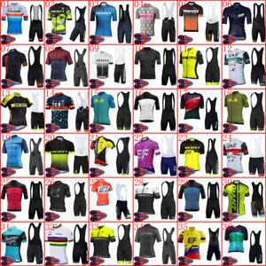 2021 Men Cycling Short Sleeve Jersey Bib Shorts Sets Summer Team Racing Outfits