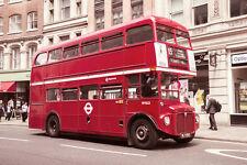 BELLISSIMO Bus Londra foto su tela #531 stordimento Retrò Double Decker A1 Canvas