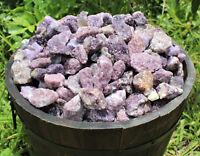 1/4 lb Bulk Lot Natural Rough Lepidolite, Gemstone Crystal Healing Raw Rock 4 oz