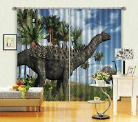 3D Dinosaurier 5444 Blockade Foto Vorhang Druckvorhang Vorhänge Stoff Fenster DE
