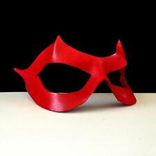 RED Mask Red Superhero Mask Flash Mask Leather Mask Halloween CosPlay Comicon
