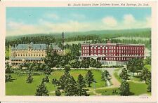 South Dakota State Soldiers Home Hot Springs SD Postcard